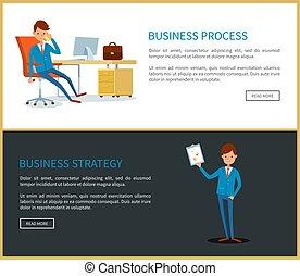 プロセス, 作戦, 計画, ビジネス, ビジネスマン