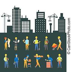 プロセス, 労働者, 制御, 建物, エンジニア