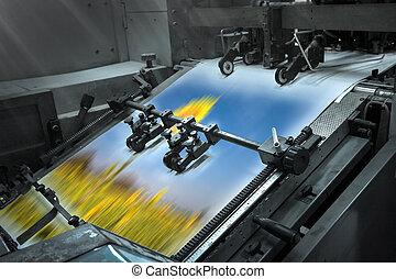 プロセス, 家, 印刷, 現代