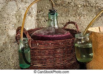 プロセス, carboys, 発酵, ワイン
