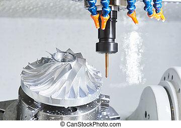 プロセス, metalworking, 切断, うろつく, カッター