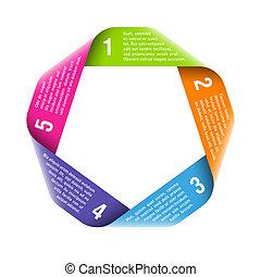 プロセス, origami, elemen, デザイン, 周期