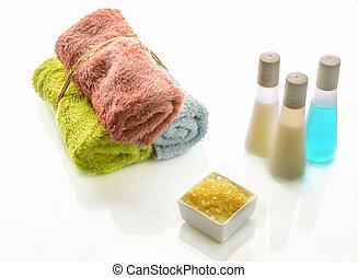 プロダクト, 多色である, 柔らかい, タオル, 浴室