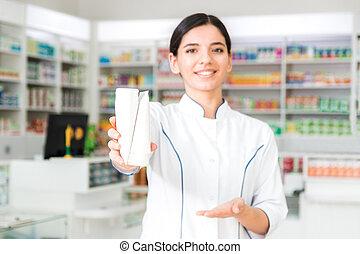 プロダクト, 白, 保有物, 宣伝しなさい, 魅力的, 2, jars., 薬剤師