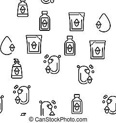 プロダクト, 自然, jojoba, ベクトル, パターン, seamless