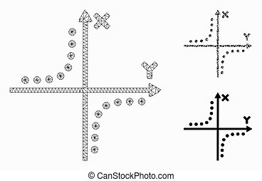 プロット, モデル, 噛み合いなさい, アイコン, ネットワーク, モザイク, hyperbola, ベクトル, 三角形