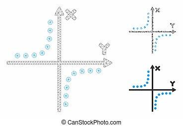 プロット, 三角形, ネットワーク, 噛み合いなさい, ベクトル, モデル, hyperbola, モザイク, アイコン