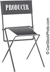プロデューサー, の, ∥, 椅子