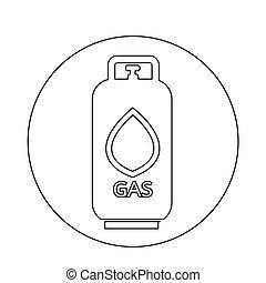 プロパン, ガス, 液体, アイコン