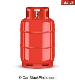 プロパン, cylinder., ベクトル, ガス, イラスト