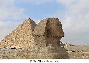 プロフィール, スフィンクス, ピラミッド