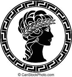 プロフィール, 古代, 女