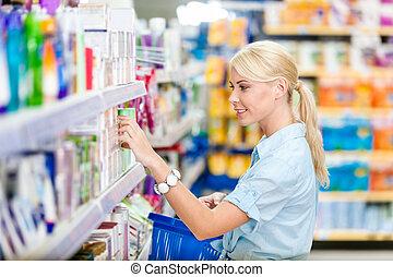 プロフィール, 店, 女の子, 化粧品, 選択