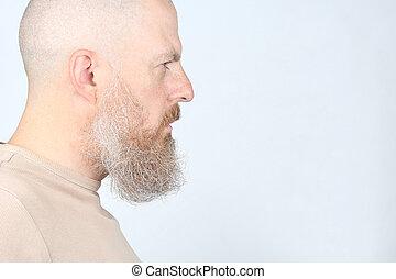プロフィール, 深刻, あごひげを生やした男, 肖像画