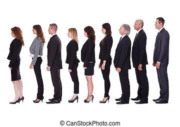 プロフィール, 線, ビジネス 人々