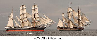 プロフィール, 高い船