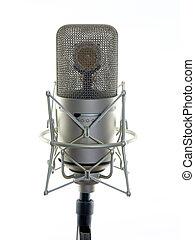 プロ, オーディオ, スタジオ, mic