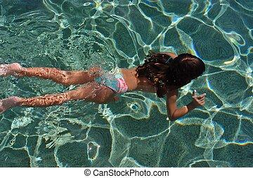 プールの水泳