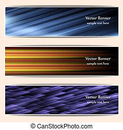 ヘッダー, 網, 旗, 抽象的