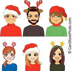 ヘッドバンド, 人々, クリスマス, avatar