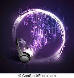 ヘッドホン, 音楽, 背景