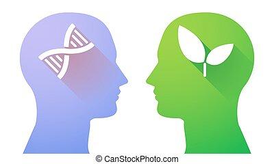 ヘッドホン, dna, 植物の印