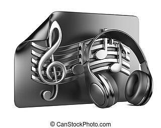 ヘッドホン, playlist, そして, メモ, -, 概念, の, a, 音楽
