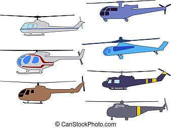 ヘリコプター, セット