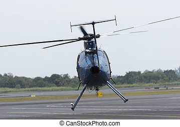 ヘリコプター, 取得, 離れて