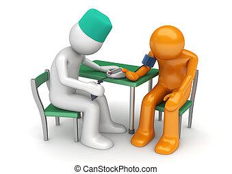 ヘルスケア, コレクション, -, 医者, 手段の血圧