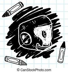 ヘルメット, いたずら書き