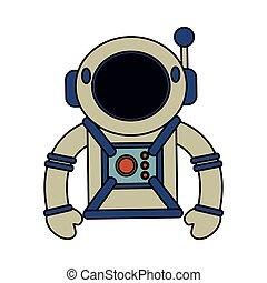 ヘルメット, スーツ, 宇宙飛行士, スペース