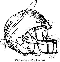 ヘルメット, フットボール, eps