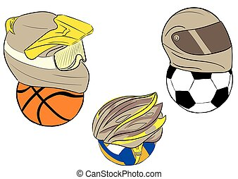 ヘルメット, ボール, オートバイ