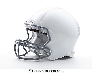 ヘルメット, 切り抜き, フットボール, 道