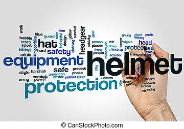 ヘルメット, 単語, 雲