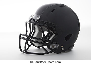 ヘルメット, 白, フットボール, 黒