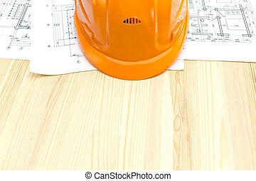 ヘルメット, 計画, 安全, 図画, 床