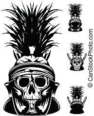 ヘルメット, 頭骨