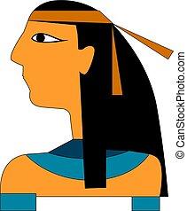 ベクトル, ∥あるいは∥, エジプト人, 色, illustration.