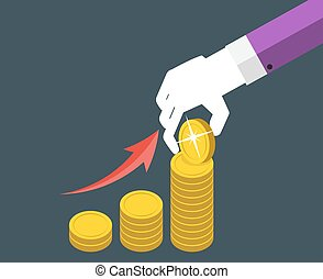 ベクトル, お金, デザイン, イラスト, 概念, 平ら