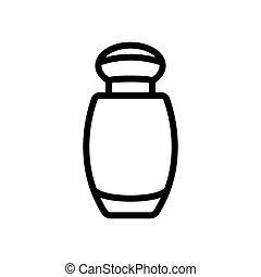ベクトル, びん, 香水, 小さい, イラスト, アウトライン, アイコン