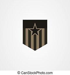 ベクトル, アイコン, ロゴ, 軍, デザイン, バッジ