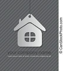 ベクトル, アイコン, element., 家, デザイン