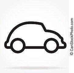 ベクトル, アウトライン, 自動車, 漫画