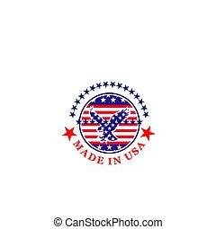 ベクトル, アメリカ, 印, 作られた