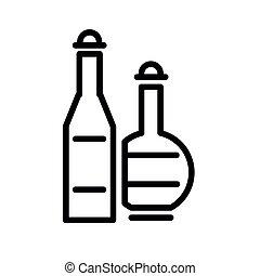 ベクトル, アルコール, 飲みなさい, アイコン