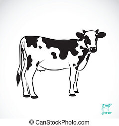 ベクトル, イメージ, の, ∥, 牛