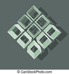ベクトル, イラスト, ∥で∥, 構造, 上に, 灰色, バックグラウンド。