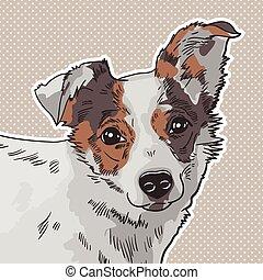 ベクトル, イラスト, の, ∥, 犬